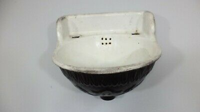 Small Fancy Antique Cast Iron Porcelain Sink 13 IN Train Car Salvage Ornate