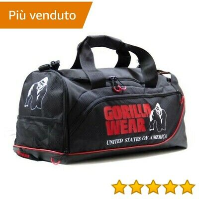Gorilla Wear GW JEROME GYM BAG - BLACK/RED > abbigliamento sportivo
