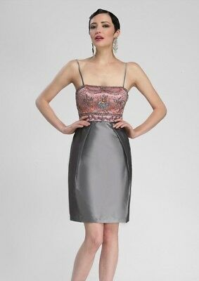 96059731dff  137.01 Buy It Now or Best Offer 27d 2h. See Details. Sue Wong N3434  Metallic Beaded Embellished Spaghetti Strap Cocktail Dress Sz 2