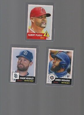 """2018 Topps Now Amed Rosario """"The Living Set"""" RC Card #23+#22 Pujols +#24 Headley"""