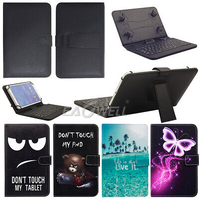For Amazon Kindle Fire HD 8 8th Gen 2018 Release Micro USB Keyboard Case Cover