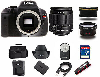 Canon Rebel T3i / 600D 18.0 MP SLR Camera With 18-55mm (3 LENS BUNDLE)