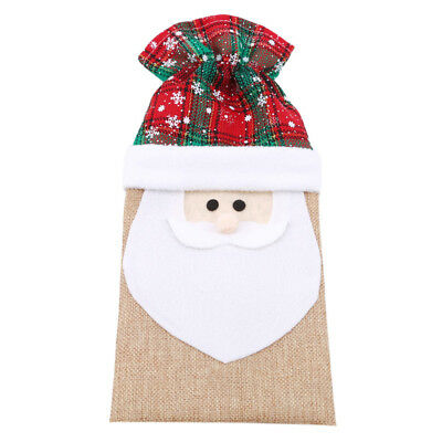 Christmas Bottle Cover Xmas Decor Santa Wine Decoration Table Party Bags MN