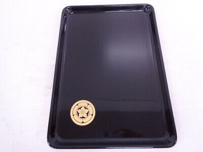 50063# Japanese Lacquered / Tray Kitte-Bon / Family Crest