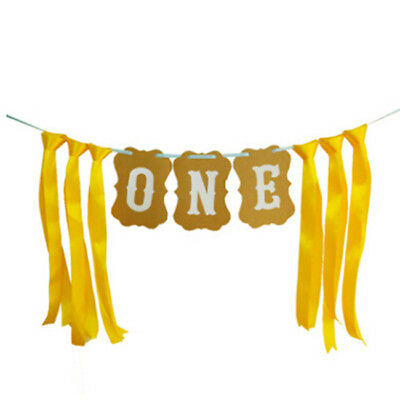 Banner Baby First Birthday 1st Party Decor Bunting Garland Boy Girl Decors MN