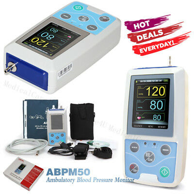 US Seller,Ambulatory Blood Pressure Monitor 24 Hours NIBP Holter Free Software