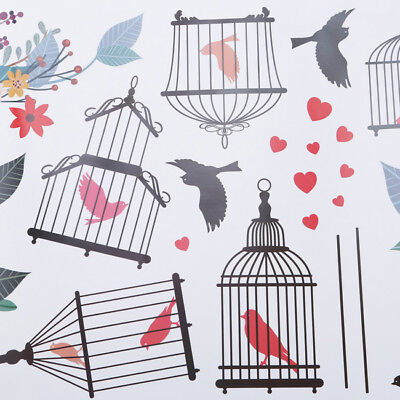 Bird Cage Vine Wall Stickers Wall Decal Removable Kids Art Nursery Decor MN