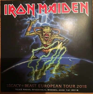 "Iron Maiden ""legacy & Beast Tour 2018""  Rare Double Cd Live Stockholm Neuf !"