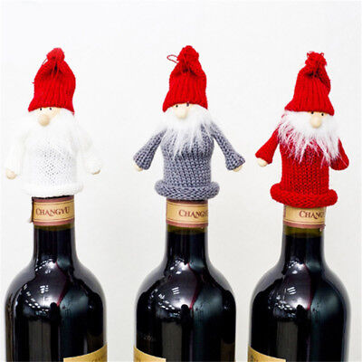 Christmas Decorations for Home Santa Claus Wine Bottle Cover Snowman MN