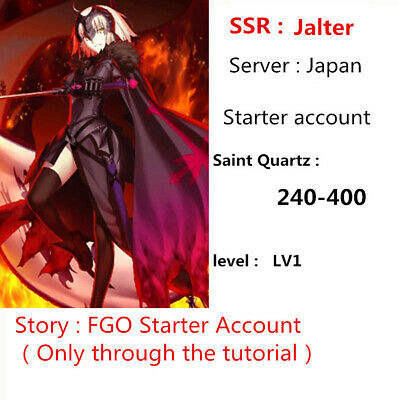 [JP] SSR Jalter FGO Starter Account 200+ sq Fate Grand Order LV1 Avenger