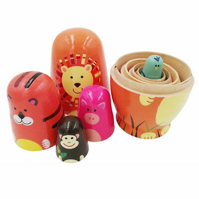 5x Matryoshka Russian Nesting Doll Wooden Hand Made Painted Toy Birthday Gift MN