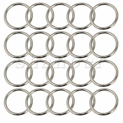 20Pcs 3.8cm D Ring Buckle Nickel Plated Over Steel D Rings for Handbags