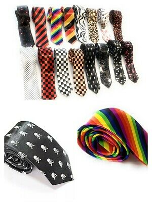 Mens Womans Skinny Neck Tie Slim Ties Fancy Dress Novelty Party Gift