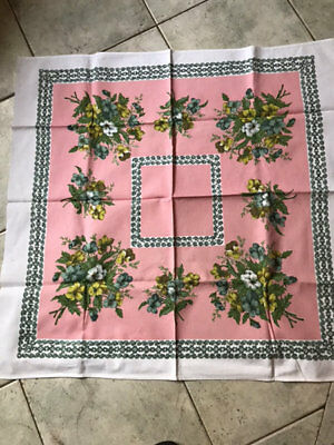 Vintage Textured Floral Tea Cloths,two Of Them.