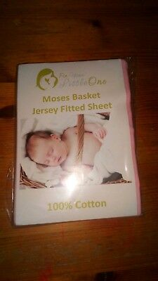 BN Pink Moses Basket Fitted Sheet