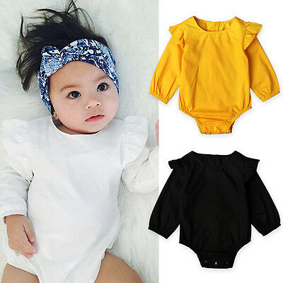 Toddler Newborn Baby Girl Boy Romper Jumpsuit Bodysuit Cotton Clothes Outfit CH