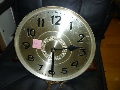 Original 1930s Grandfather Clock Weight Driven Striking Movement+Dial(72)