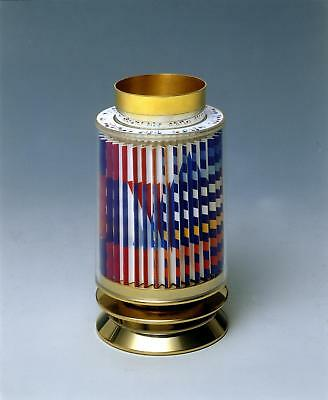 Yaacov Agam - Kiddush Cup -24k Gold Plated Sterling Silver -Agamograph in Lucite
