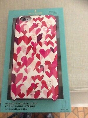 Kate Spade IPhone 6S Plus Case, Slim, Crystal Stone Jewels On Pretty Hearts,