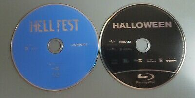 DISC ONLY Halloween 2018 and Hell Fest Blu-ray DISC ONLY never used
