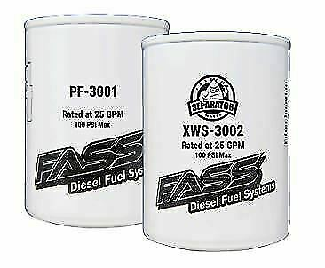 FASS FUEL SYSTEMS Fuel Filter Extreme Water Separator XWS
