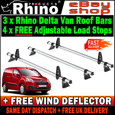 Citroen Berlingo Roof Rack Ladder Bars 3 Rhino Delta 2008-2018 SWB-L1 LWB-L2 Van