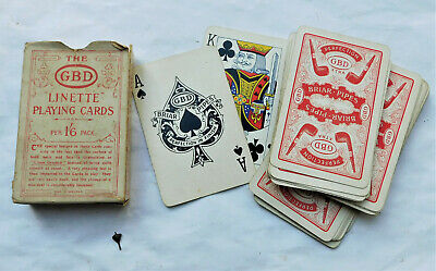 NO RESERVE GBD Briar Pipes Advertising Playing Cards c1910 Vintage Antique