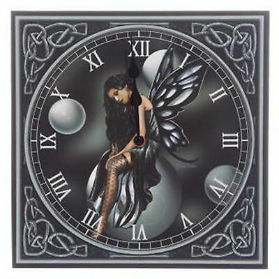 Dark Fairy with bubbles Clock designed by Lisa Parker