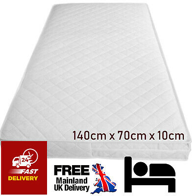Junior Toddler Cot Bed Mattress Baby Quilted Breathable Waterproof 140 X 70 X 10