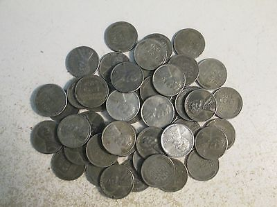 1943-P-D Roll Of 50 Steel Cents Plus Extra Unc 1943