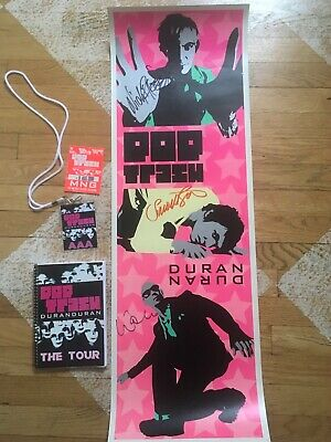 Duran Duran Pop Trash Signed Poster- Tour Itinerary- (2) VIP passes