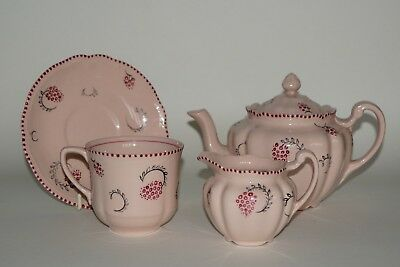 Grays Pottery - VERNAN A234 - Part Tea for Two on Rare Rosedawn Bodies - c.1931