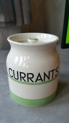 Vintage kitchen Kleen ware Current storage jar 1950s Great condition.