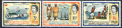 """Fiji complete MNH set of 3 stamps """"Discovery of Rotuma"""""""