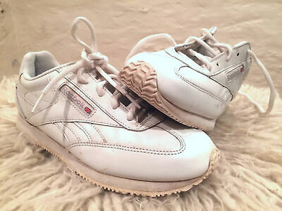 8ef048691b4 VTG 90s REEBOK SNEAKERS womens 6 CONQUEST II CLASSIC tennis shoes spellout  white