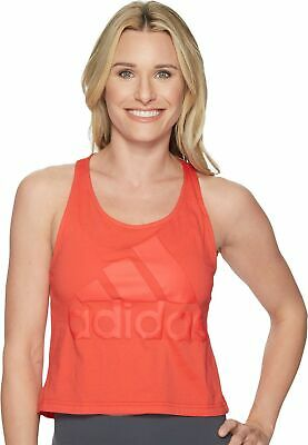 48684dc0455 adidas Women's Athletics Sport Id Cropped Tank Top, Real Coral, Large