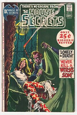 House of Secrets #93, BERNIE WRIGHTSON, ALEX TOTH, NICK CARDY, DC 1971, VG+  r