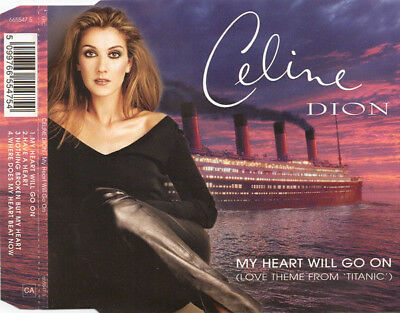 Celine Dion My Heart Will Go On 4 Track Cd Single Inc Where Does My Heart Beat