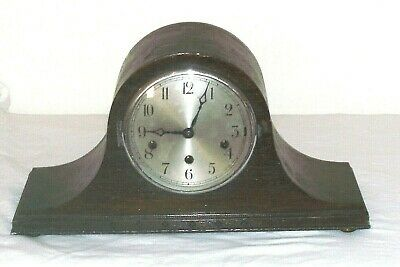 Antique 3 Hole Westminster Chimes Mantle Clock In Fair Condition  Untested