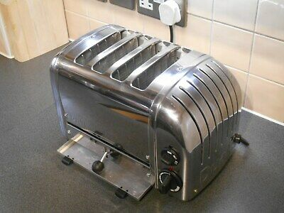 Superb Dualit 4 Slice Four Polished Toaster 42174 4Cbgb Extra Wide Slots Pattest