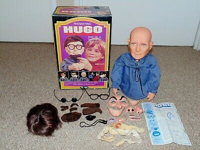 Vintage 1975 Kenner Hugo Man of a Thousand Faces with Box & Accessories Canadian