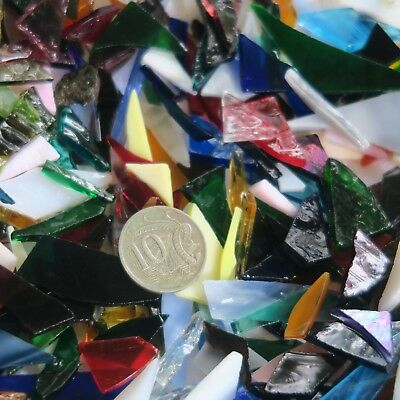 Multi-Coloured Mixed Glass | Mosaic Art Craft Supplies Tumbled Glass 400gm lots