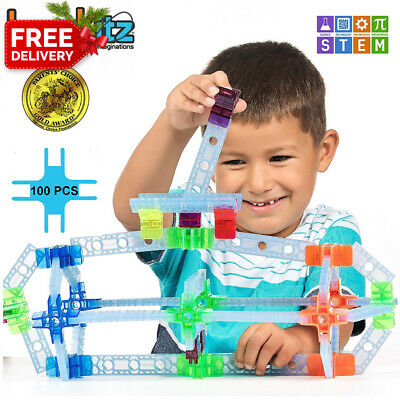 Brackitz Inventor STEM Building Toys for Kids 3, 4 and 5+ Year Olds | 100 Pc...