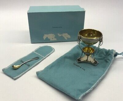 VTG Tiffany & Co 925 Sterling Tiered Miniature Bowl And Spoon Set Wonderful I