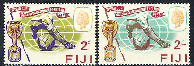 """1966 Fiji complete MNH set of 2 """"World Cup Soccer"""" in England (Omnibus Issue)"""