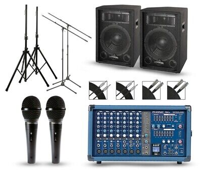 "Phonic Powerpod 750R Mixer with S7 Speakers PA Package 12"" Mains"