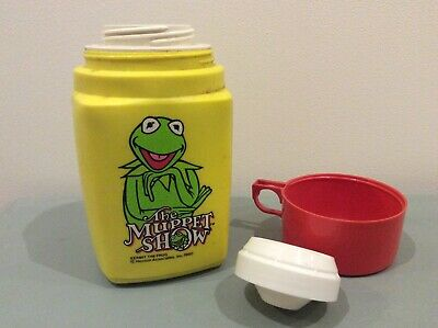 Thermos Roughneck Flask Kermit The Frog The Muppet Show vintage retro 1980
