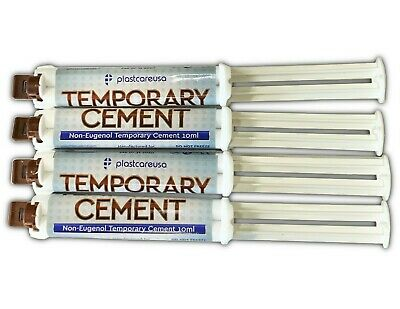 4 x Dental Automix Non-Eugenol Temporary Cement Syringe 10 mL (No Mixing Tips)