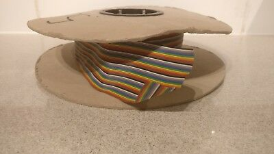 50 Way Multi Coloured Flat Ribbon Cable Wire - 13 Meters