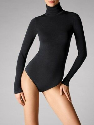 2b47f667f6 NIB NEW WOLFORD Black Seamless Pure Plus T Shirt Top Medium  150 ...